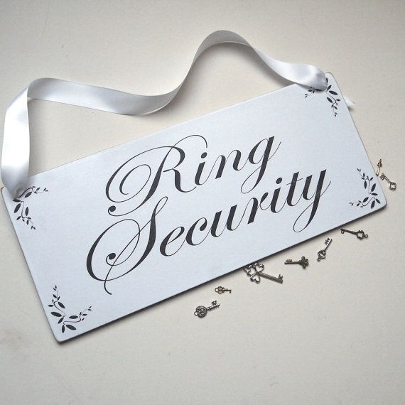 ring bearer or page boy wedding sign ring by