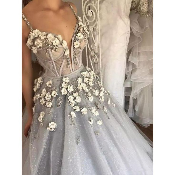 Discount Long Wedding Dress Fine Silver Wedding Dresses With Tulle Straps Zipper Sequin Dresses