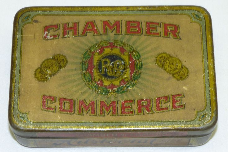 Old Chamber of Commerce Aristocrat Size Mild Cigar Tin Tobacco Advertising Ohio