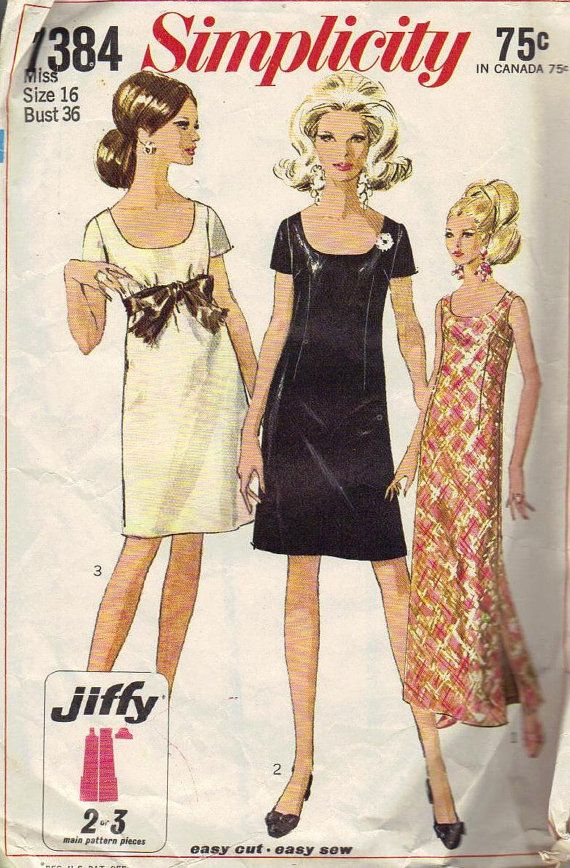 Simplicity Sewing Pattern 1960s Dress by AdeleBeeAnnPatterns, $6.00