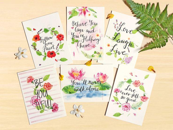 Inspirational Botanical Postcard Set