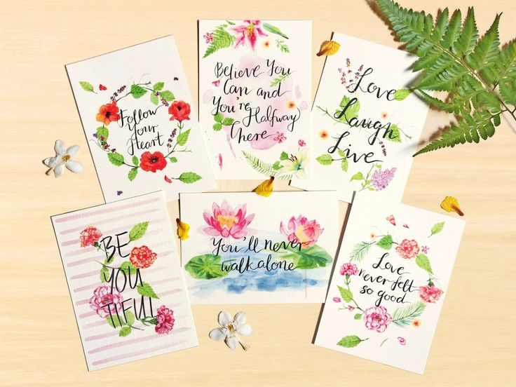 Inspirational Botanical Postcard Set