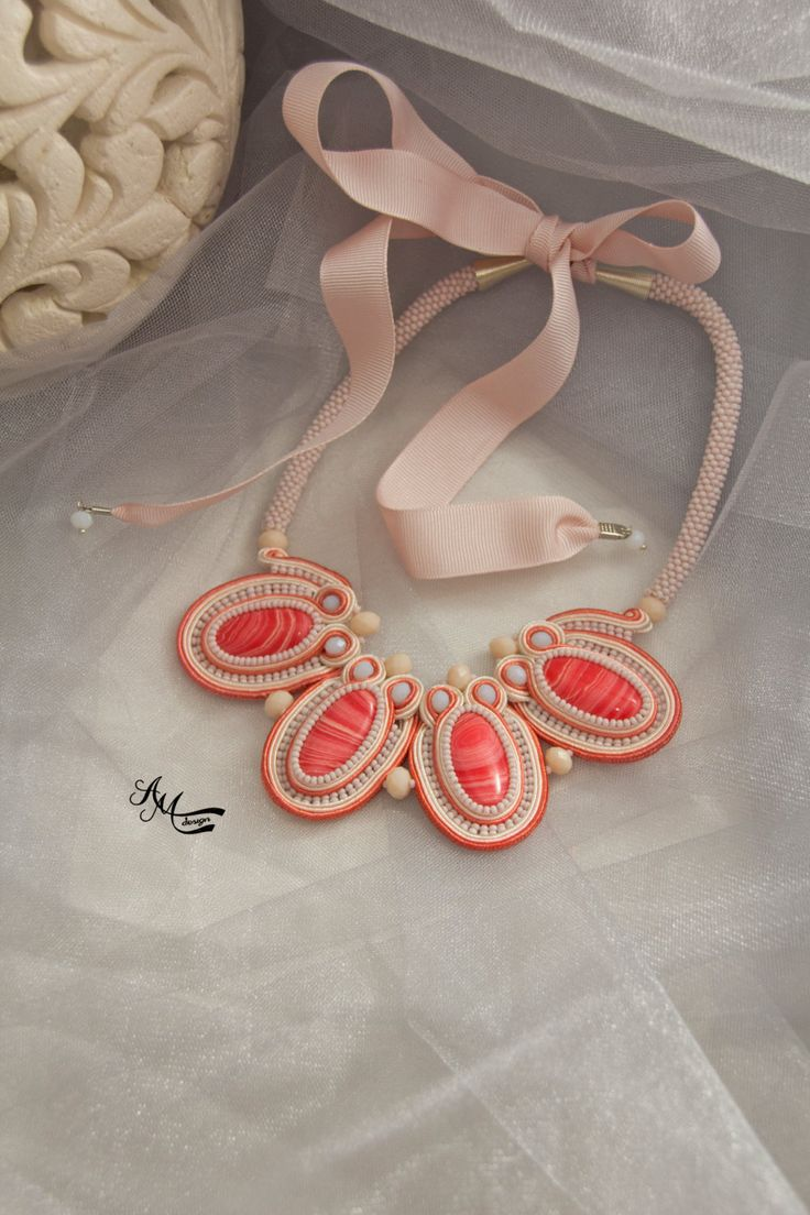 Soutache necklace. Soutache jewelry by AMdesignSoutache on Etsy