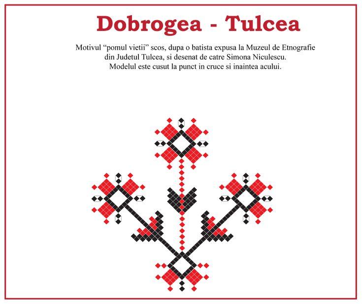 Pomul vieti, model traditional din Dobrogea, Tulcea. #dobrogea