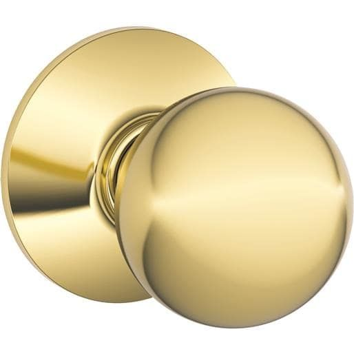 Schlage Lock Pb Orbit Passage Knob Bx F10ORB605 Unit: Each