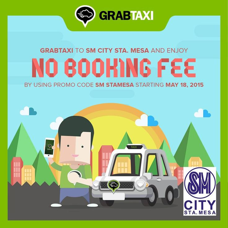 GRABTAXI from/to SM CITY STA. MESA and enjoy NO BOOKING FEE by using promo code SM STAMESA Hurry GRAB a TAXI now! *In partnership with GRABTAXI #GrabTaxi #SMGrabTaxi #SMStaMesGrabTaxi  #iLoveSM #iLoveSMStaMesa #EverythingsHere #SM3DaySale  #SMStaMesa3DaySale #SMEvents #SMStaMesaEvents #SMFunday SM Supermalls GrabTaxi
