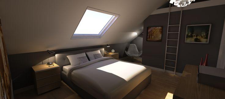 renovatie zolder slaapkamer  Verbouwen Ideeën  @HOME  Pinterest
