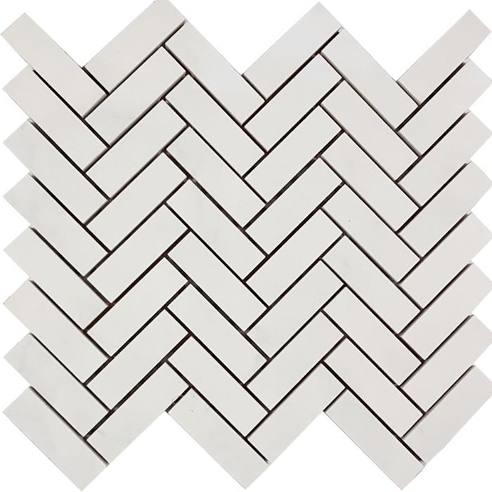 Check out the deal on Tesoro Bianco Statuario - Herringbone 3/4 x 2 1/2 Mosaic at GBTile Collections