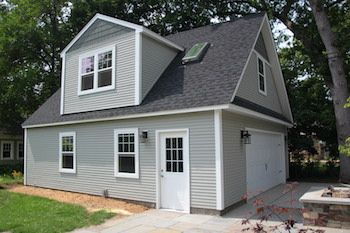 8 best garage sizes and size chart images on pinterest garage 2 car 2 story garage using attic trusses and dormer solutioingenieria Image collections