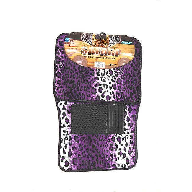 Oxgord Velour Plush Purple Safari Cheetah Leopard Car