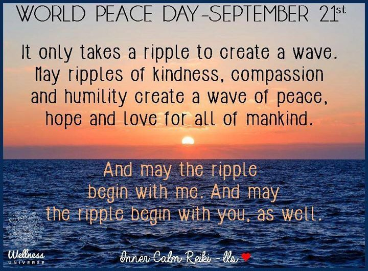 World Peace Day 2015 image 5  #MotivationMonday #InternationalPeaceDay2015 #PeaceDay #WUVIP #WorldPeace #WorldPeaceDay #PeaceMovement #Peace