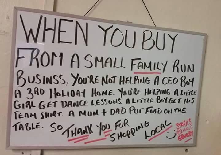 shop local business whiteboard - Google Search