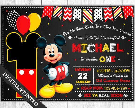 17 mejores ideas sobre Invitación De Mickey Mouse en Pinterest ...