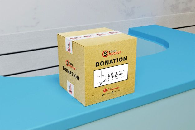 Download Donation Box Mockup Box Mockup Donation Box Mockup