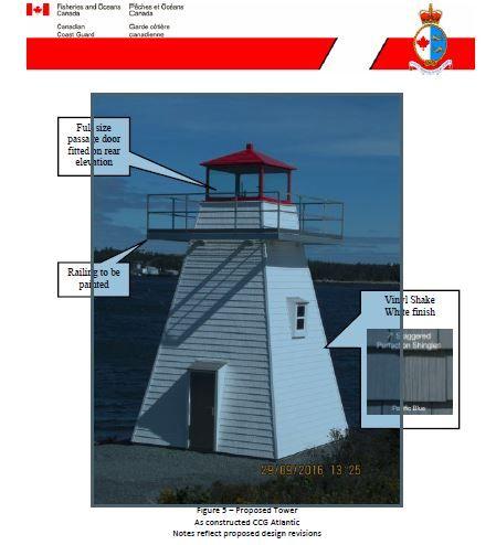 Proposed Lighthouse for Lighthouse Island, Lake Muskoka, Sept. 2017.