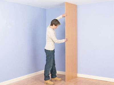 How to Build a Closet Into the Corner of a Room : How-To : DIY Network Want this for kitchen, small closet in corner for brooms/ mops or add shelving and use for dishes