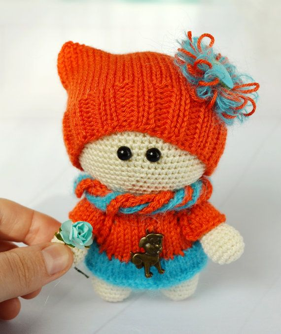 Handmade Doll toy Girl Doll Gift Plush Doll Toy crochet