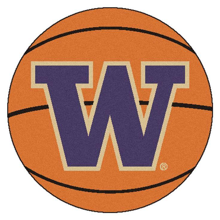 Washington Huskies Basketball Area Rug