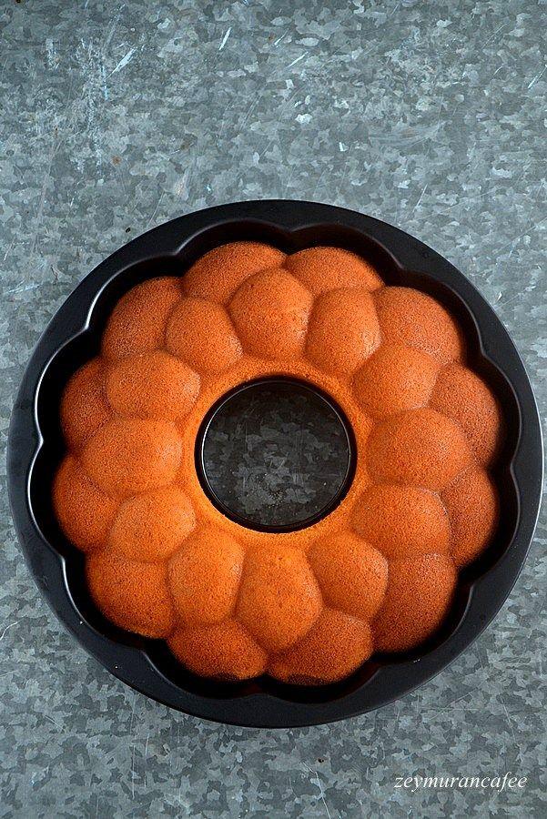 Portakallı Kakaolu Kek portakallı kek sevenlere portakal kabugu rendeli ve portakal sulu nefis kek