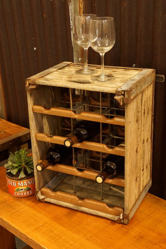 394 best images about reuse repurpose ideas on pinterest for Crate wine rack diy