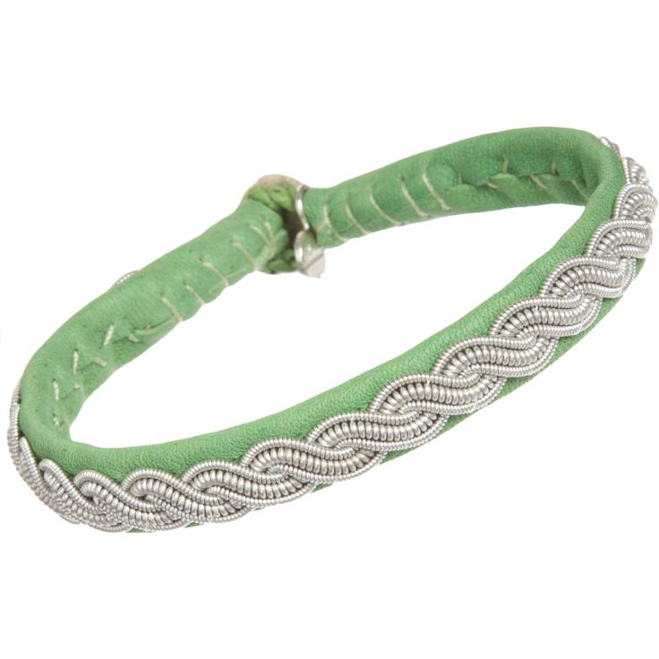 maria rudman bracelets | maria rudman narrow leather pewter embroidered bracelet bracelets ...