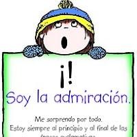 El signo de admiración indica asombro, súplica o ruego.Uno se utiliza al inicio de la oración (¡) y otro al final (!). Ejemplo: ¡Auxilio! ¡Ay!