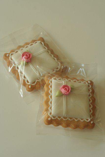 Pink Rose Cookies