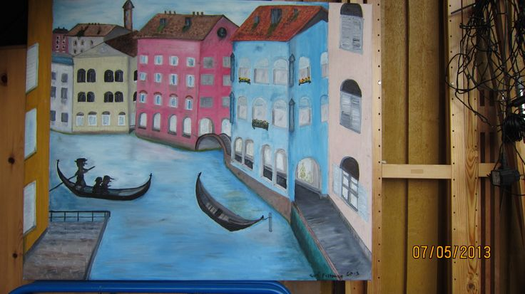 """Canal and """"Past"""" in Venice"""