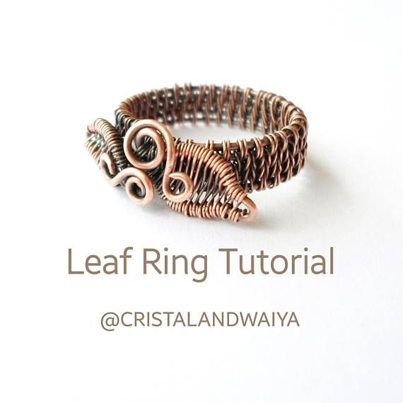 This is a step-by-step Leaf Ring Making TUTORIAL in PDF format, English version. 14 pages, 39 steps. Skill level: from beginner to intermediate. English is not my mother language but I do my best to describe the processes in simple English. Ring size in this tutorial is US 8. You