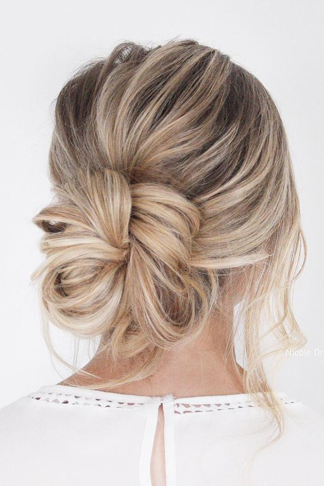 Wedding Guest Hairstyles Trendy Slightly Messy Bun On Blonde