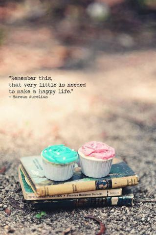 """""""Remember this, that very little is needed to make a happy life."""" - Marcus Aurelius"""