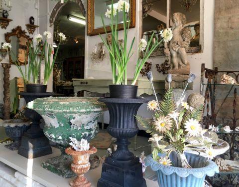 Antique Concrete Garden Urn
