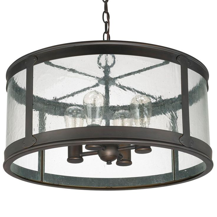 Prairie Outdoor Chandelier. For the exterior entry porch - simple lines, right finish, just enough glass to not feel heavy.