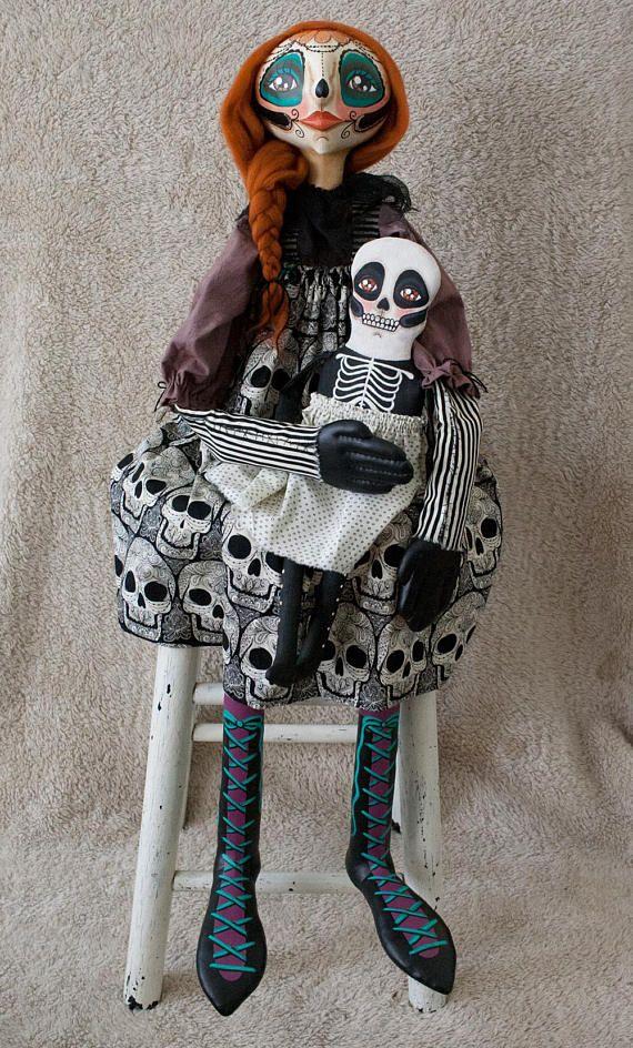 Rebecca Miller Campbell: Day of the Dead Folk Art Doll
