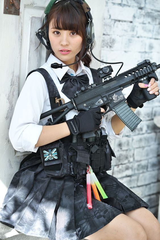 Happiness! asian girls with guns pity, that