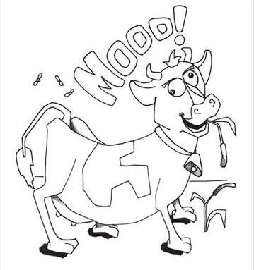 funny cow pictures to print