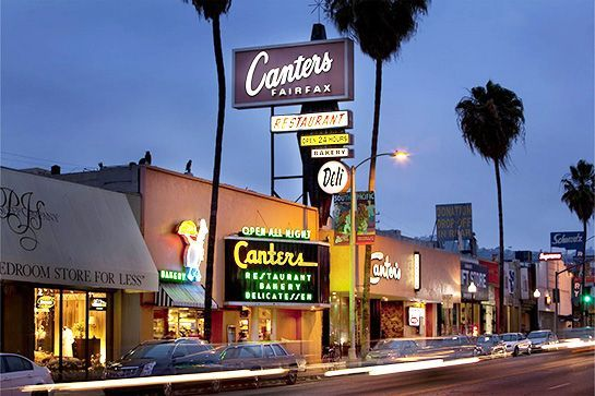 10 Old-School Hollywood Haunts You Have To Try Once Canter's Deli, 419 North Fairfax Avenue Neat Oakwood Avenue 323-651-2030