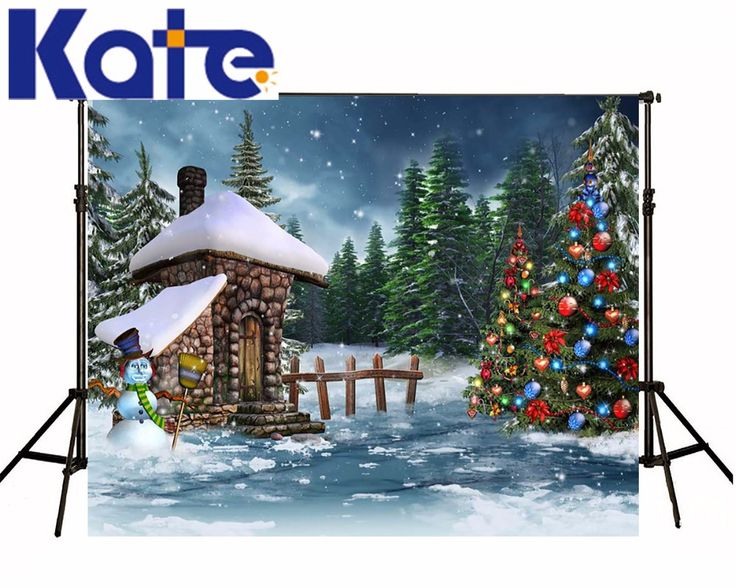 Find More Background Information about Kate Winter Photo Backdrop 10ft Christmas Tree Photography Props Snow House Custom Backdrop Printing For Children Photo Studio ,High Quality Background from Marry wang on Aliexpress.com