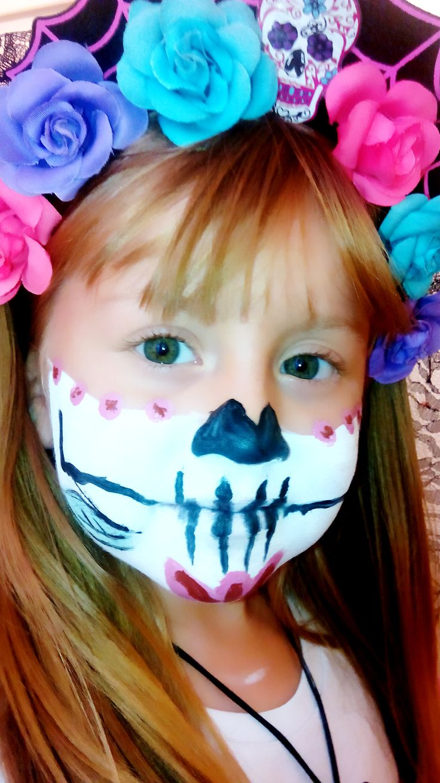 Makeup Sugar Skull Halloween Makeup Girl Calavera Día de Los Muertos Frida Khalo