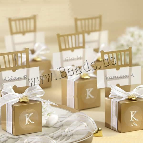 Wedding Candy Box, Paper, with Satin Ribbon & Plastic, Chair…