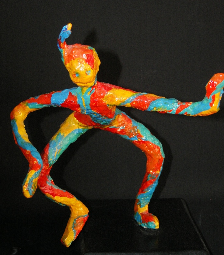 Did you know I made these dancing figures? Originally made in plaster and then cast in resin and hand painted....