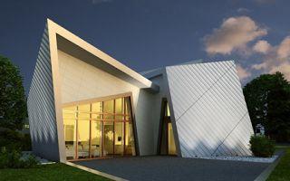 Maison pr fabriqu e d constructivisme daniel libeskind for Architecture deconstructiviste