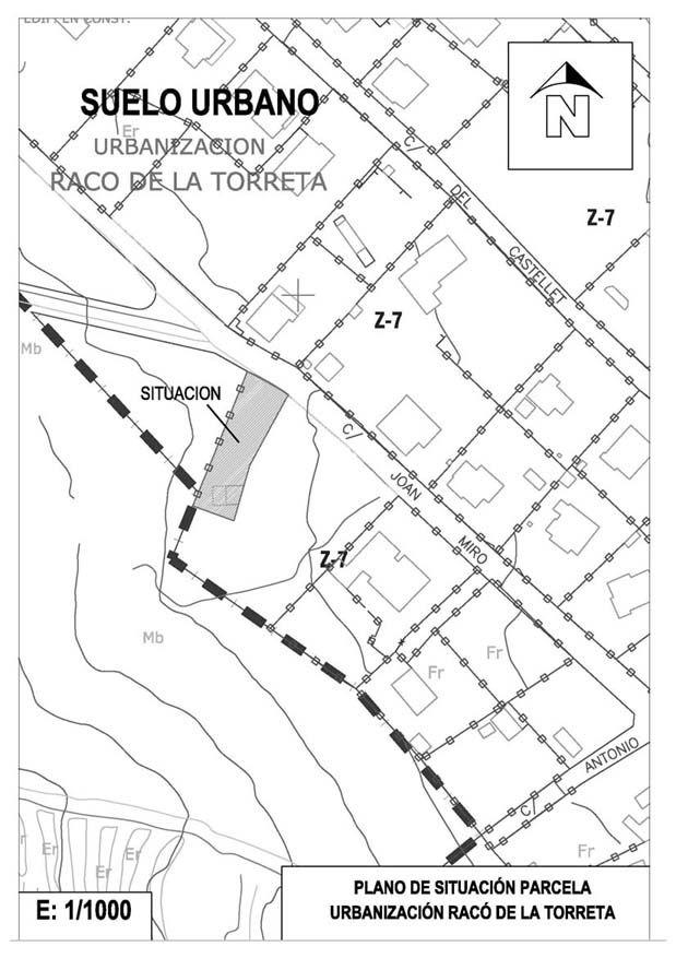 """198000,00€ · Parcela Nº15-1. Urbanización """"RACÓ DE LA TORRETA"""", Castellón · URBANIZACION MUY PRÓXIMA A CASTELLÓN CON ZONAS COMUNITARIAS  -Superficie: 564,37 m2   -Suelo Urbano: Zona Z7  -Servicios: oAcometidas de agua y electricidad. oTelefonía subterránea oAlcantarillado oAlumbrado público con cableado subterráneo oCalle asfaltada PARCELA:  -Rampa de acceso de vehículos (muros de contención con piedra del lugar).  -Vallada.  -Desmonte realizado para garaje.  -Lindando con espacio natural…"""