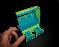Papierstrandkorb