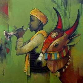 316 best Indian Art - Cattle