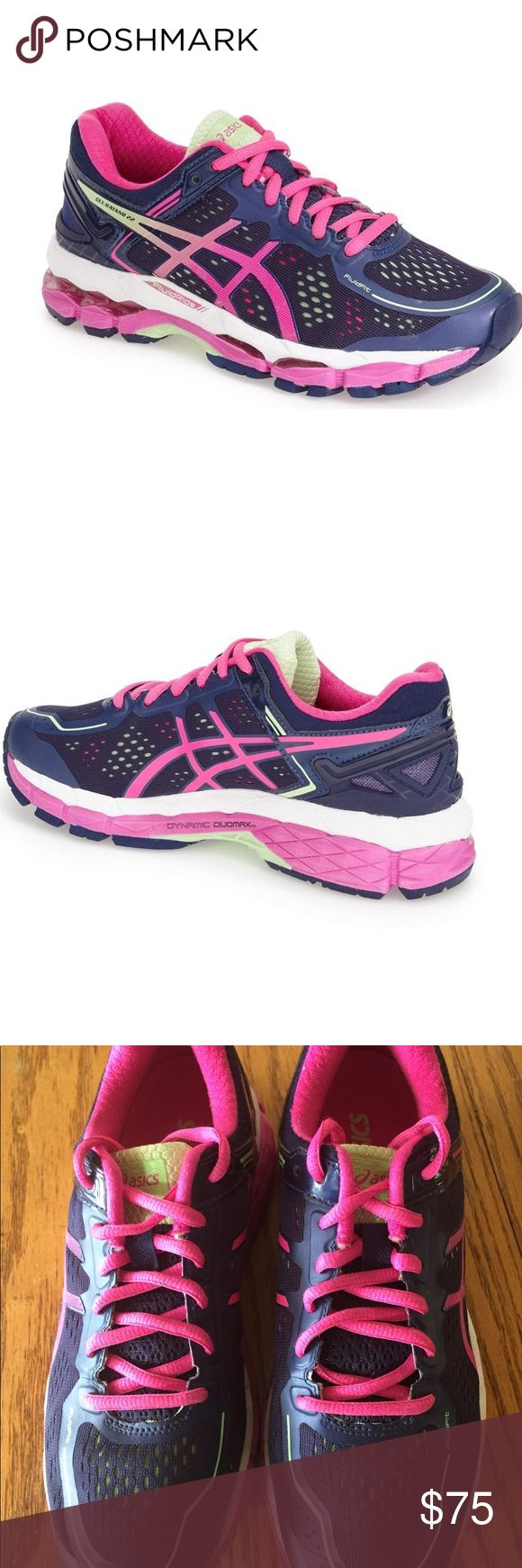 Asics Gel Kayano 21 Asics Gel Kayano 21 like brand new only worn a couple of times the insoles were never worn as I have my own custom insoles. The shoe features ample GEL cushioning,  Size 8 Narrow Asics Shoes Athletic Shoes