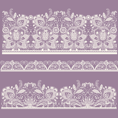 White Lace elements vector 03
