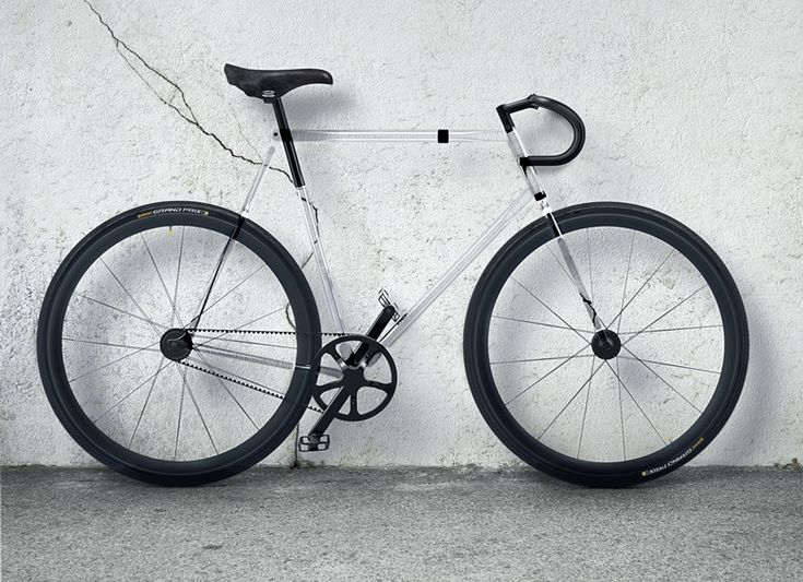 designaffairs studio // clarity bike with fully transparent frame made possible by trivex plastic