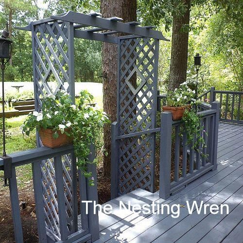 Deck trellis front yards home and outdoor living for Deck trellis