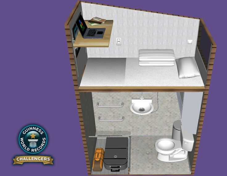 Cube Qb1 2m X 1m World S Smallest Livable House Tiny